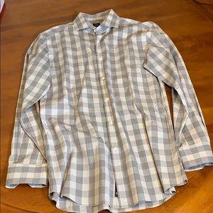 "Hugo Boss Tailored Slim Fit Dress Shirt / Size 16"""